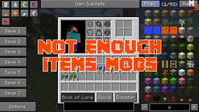 not enough items mods